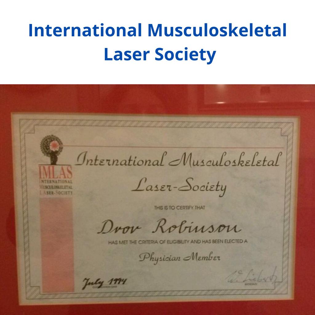 International Musculoskeletal Laser Society